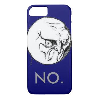 """Marina de guerra """"NO"""" texto gris del meme Funda iPhone 7"""