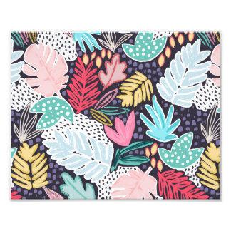 Marina de guerra tropical colorida de la impresión foto