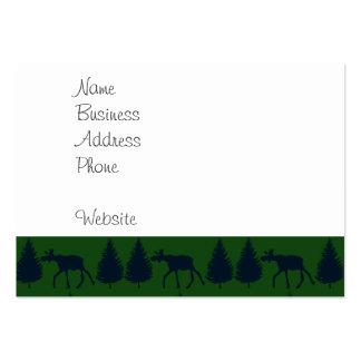 Marina de guerra verde rústica salvaje de los tarjetas de visita grandes