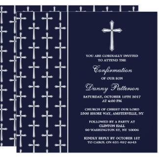 Marina de guerra y comunión santa o confirmación invitación 13,3 cm x 13,3cm