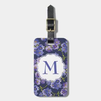 Marina de guerra y etiqueta personalizada floral