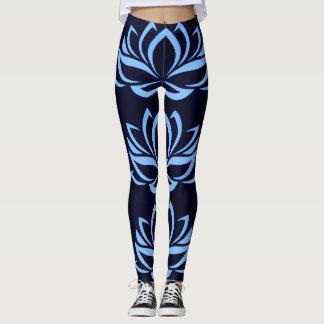 Marina de guerra y polainas azules claras del leggings