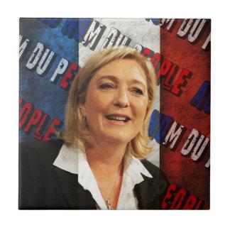 Marine Le Pen Azulejo De Cerámica