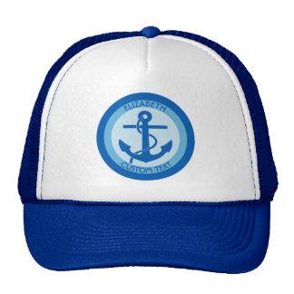 Marinero azul del ancla gorra