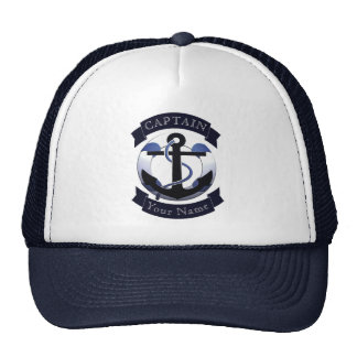 Marinero del capitán de mar personalizado gorros