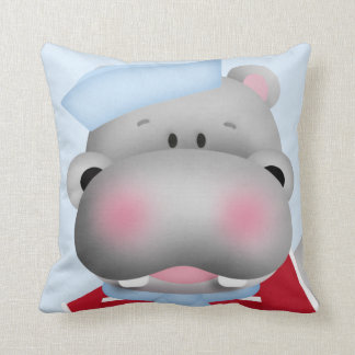Marinero del hipopótamo hecho en almohada de tiro