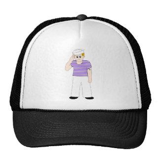 Marinero lindo del dibujo animado gorra