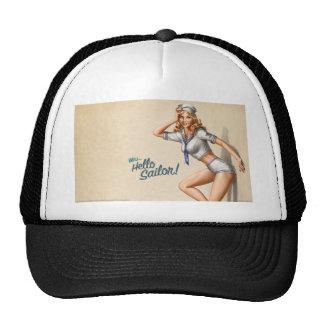 """Marinero modelo del vintage original """"hola!"""" gorras de camionero"""