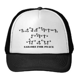 Marineros para la paz gorros bordados