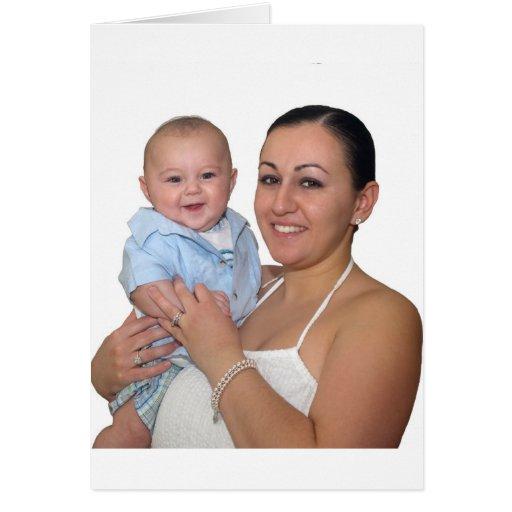 Mario W/Mommy Pascua 2009 Tarjeta