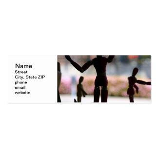 Marioneta de madera tarjetas de visita mini
