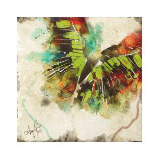 Mariposa abstracta 3 lona envuelta para galerias