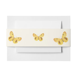 Mariposa amarilla - banda del Belly de la Cintas Para Invitaciones