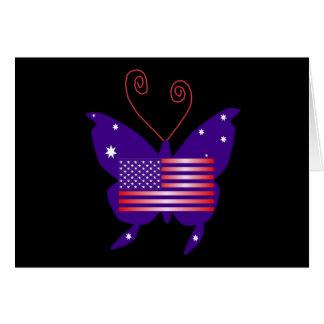 Mariposa americana de la diva tarjetas
