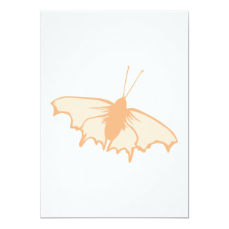 Mariposa anaranjada invitación 12,7 x 17,8 cm