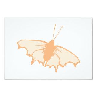 Mariposa anaranjada invitación 8,9 x 12,7 cm