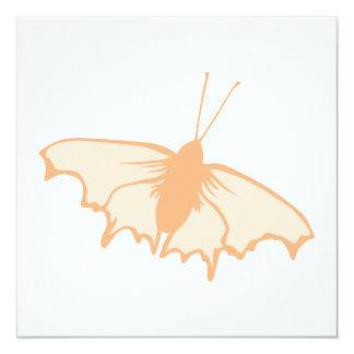 Mariposa anaranjada invitación 13,3 cm x 13,3cm