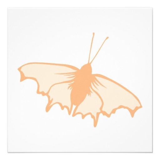 Mariposa anaranjada comunicados personalizados