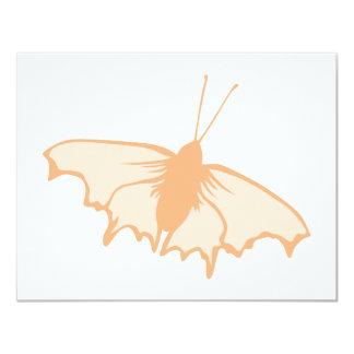 Mariposa anaranjada invitación 10,8 x 13,9 cm