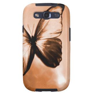 Mariposa animal abstracta Brown Galaxy S3 Cobertura