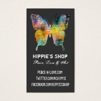Mariposa apenada tarjeta de negocios
