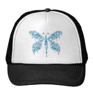 Mariposa azul de lujo gorras
