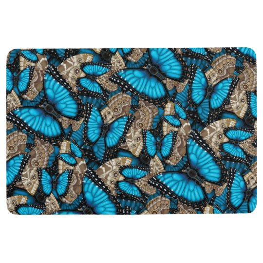 Mariposa azul de Morpho Alfombra