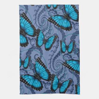 Mariposa azul de Morpho Paño De Cocina