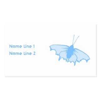 Mariposa azul en colores pastel plantillas de tarjetas de visita
