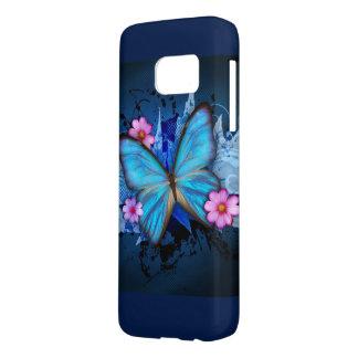 Mariposa azul funda samsung galaxy s7