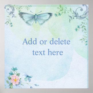 Mariposa azul póster