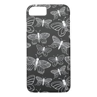 Mariposa blanco y negro funda iPhone 7