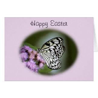 Mariposa blanco y negro Pascua de la ninfa Felicitación