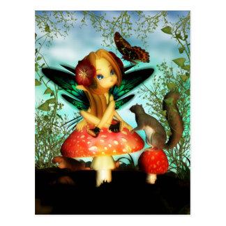 Mariposa bonita de Ooh - pequeña postal de hadas