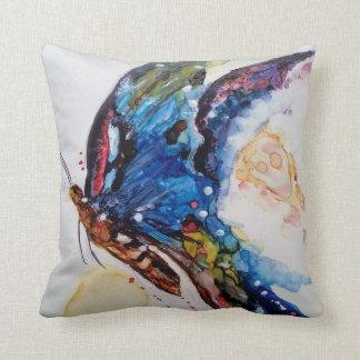 Mariposa brillante cojín decorativo