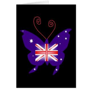 Mariposa británica de la diva tarjeta de felicitación