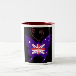 Mariposa británica de la diva taza dos tonos