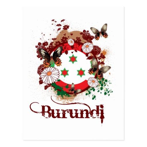 Mariposa Burundi Tarjeta Postal