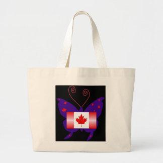Mariposa canadiense de la diva bolsas lienzo