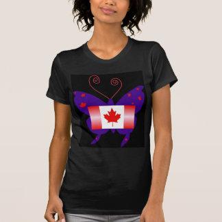 Mariposa canadiense de la diva camisetas