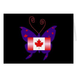 Mariposa canadiense de la diva tarjeta de felicitación