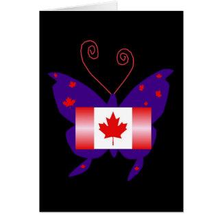 Mariposa canadiense de la diva tarjeton