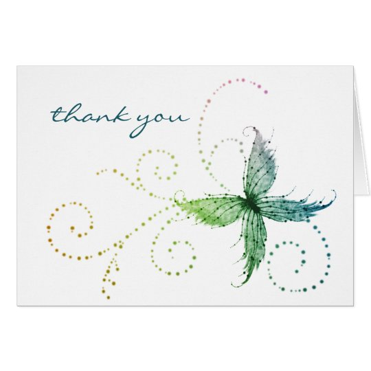 Mariposa caprichosa - gracias cardar tarjeta de felicitación