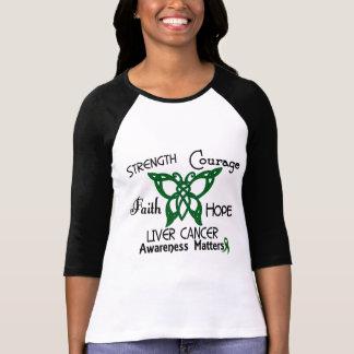 Mariposa céltica 3 del cáncer de hígado camisetas