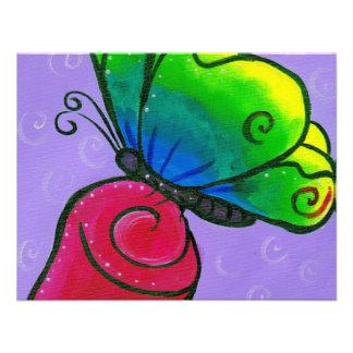 Mariposa con el rosa invitación personalizada