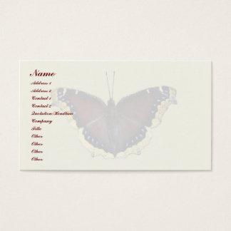 Mariposa de capa de luto - antiopa del Nymphalis Tarjeta De Negocios