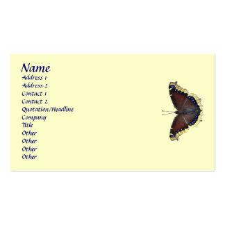 Mariposa de capa de luto - antiopa del Nymphalis Tarjetas De Visita
