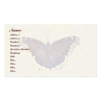 Mariposa de capa de luto - antiopa del Nymphalis Tarjeta De Visita