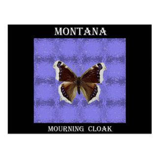 Mariposa de capa de luto de Montana Postal