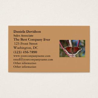 Mariposa de capa de luto tarjeta de negocios